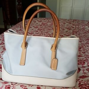 Authentic Coach Brand Canvas & leather tote.